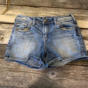 Silver Jeans | Light Wash Jean Shorts
